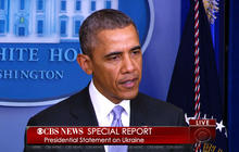 """Obama: """"deeply concerned"""" by reports of Russian troop movements"""