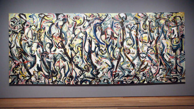 Jackson pollock 39 s painting mural emerges from for Mural jackson pollock