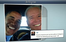 @VP Joe Biden posts first selfie with President Obama