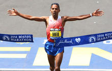 American takes home top prize in Boston Marathon