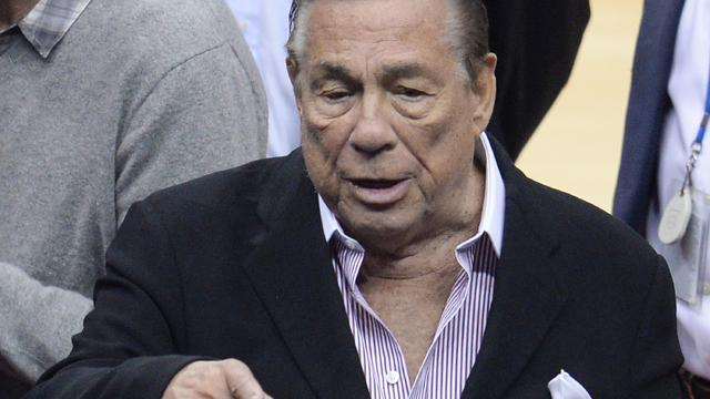 Los Angeles Clippers owner Donald Sterling at NBA playoff game between Clippers and Golden State Warriors on April 21, 2014 at Staples Center in Los Angeles