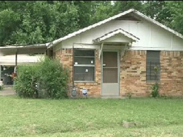 The scene of a fatal shooting in Hearne, Texas