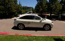 Taking a test ride in a Google self-driving car