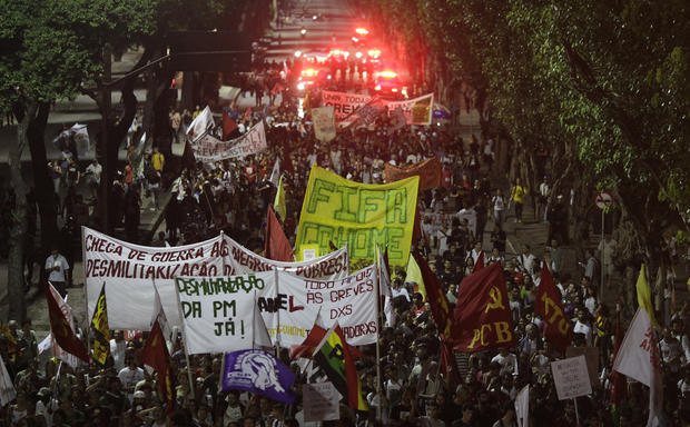 Protests erupt in Brazil