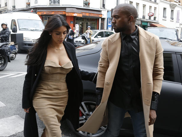Kim and Kanye in Paris