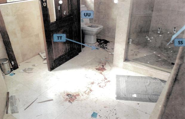 Oscar Pistorius apartment evidence photo