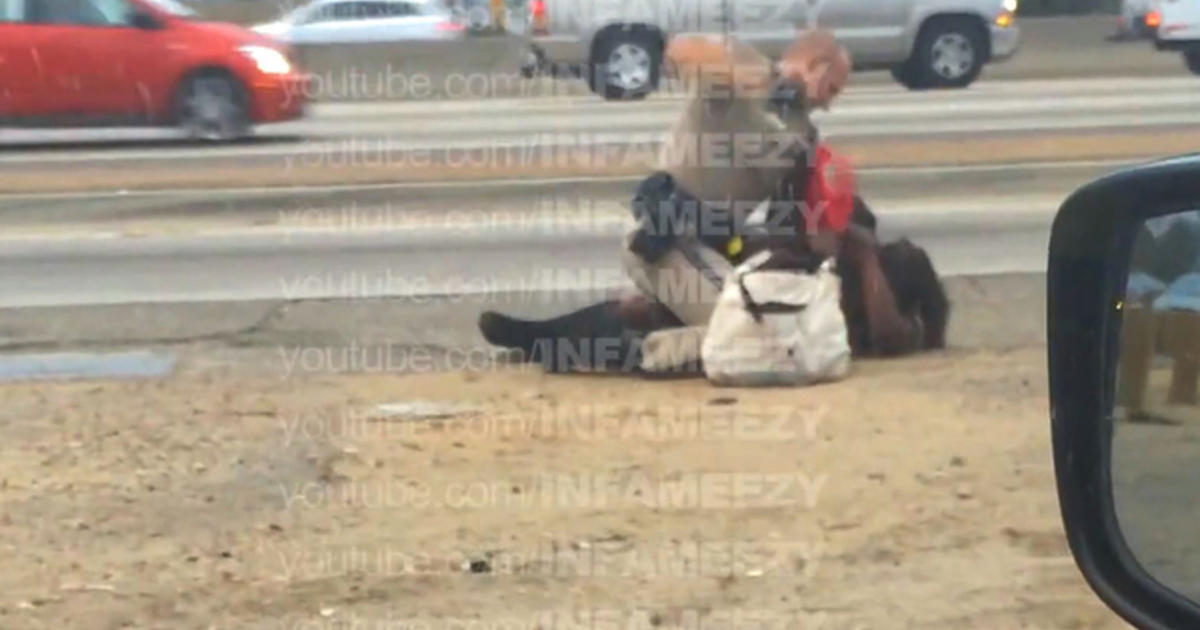 Highway beating: CHP investigating video of officer hitting woman