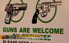 Waitresses openly carry guns at restaurant in Rifle, Colorado