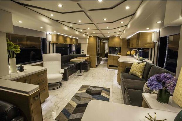 Outstanding 7 Incredible Multimillion Dollar Motorhomes Cbs News Interior Design Ideas Gentotryabchikinfo