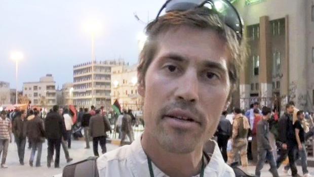 James Foley is seen in Benghazi, Libya, in a still from a 2011 video