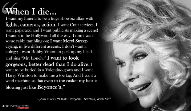 Joan Rivers' funeral set for Sunday in New York - CBS News