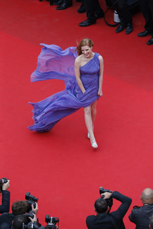 Jessica Chastain on the red carpet