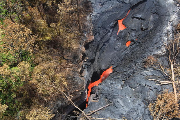 Lava flows on Hawaii's Big Island