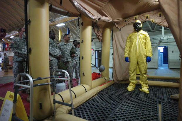 U.S. troops deploy to aid with Ebola