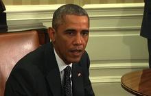 "Obama ""cautiously more optimistic"" about U.S. Ebola response"
