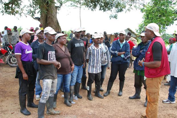 Burying the dead in Liberia