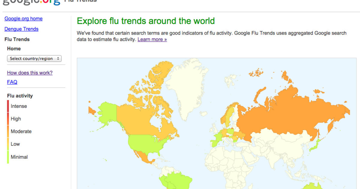 Google revamps Flu Trends after it overestimated illness ... on dengue fever map, h1n1 map, spanish influenza map, autism map, influenza a map, influenza outbreak map, diabetes map, adhd map, virus map, pandemic map, hiv/aids map, strep throat map, depression map, fluview map, pain map, infection map, stroke map, multiple sclerosis map, canine influenza map, epilepsy map,