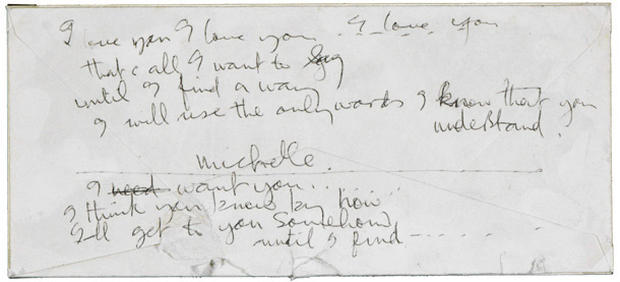 The Beatles' original lyrics