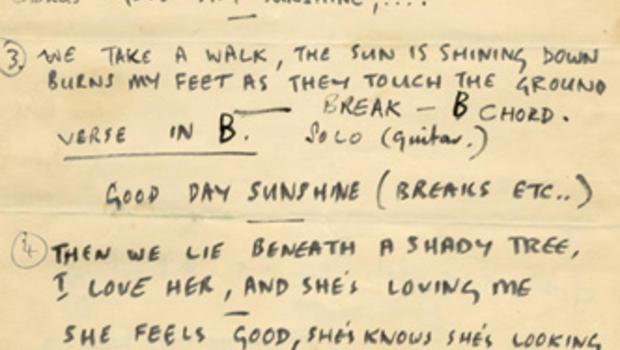 https://www cbsnews com/pictures/the-beatles-original-lyrics