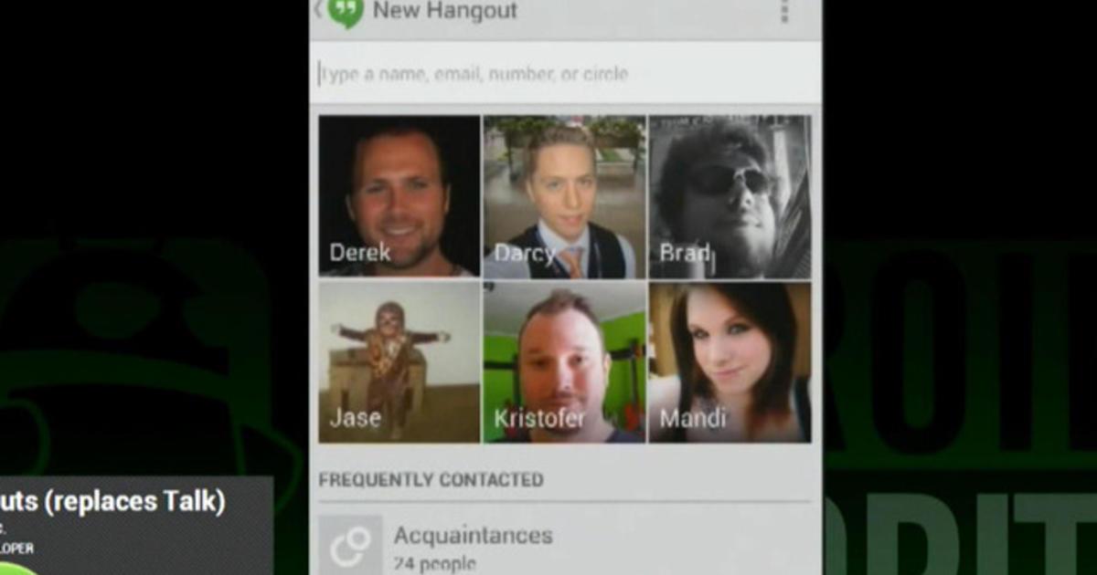 Google Hangouts app lets friends track your location - CBS News