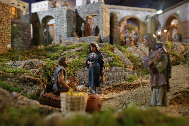 Making the Nativity by hand