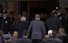 NYPD officers salute mayor at fallen cop's wake