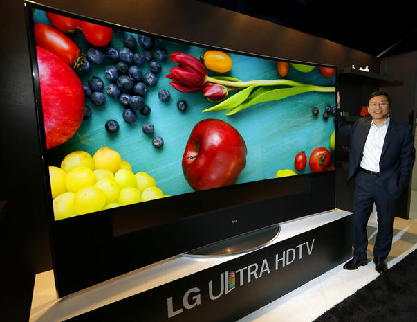 Lgs 105 Inch Ultra Hd 4k Tv Wacky And Over The Top Tech At 2015
