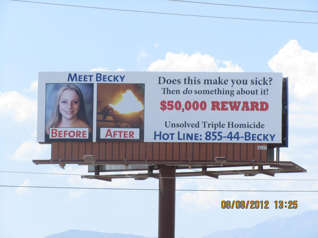Billboard seeking clues