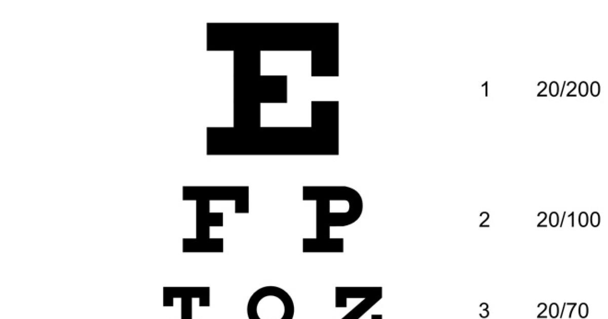 Almanac The Eye Chart Cbs News