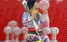 Lindsey Vonn wins record number of titles