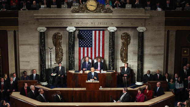 President Obama delivers his State of the Union speech before members of Congress in the House chamber of the U.S. Capitol Jan. 20, 2015, in Washington.