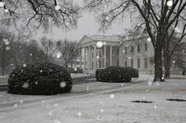 Landmarks in the snow