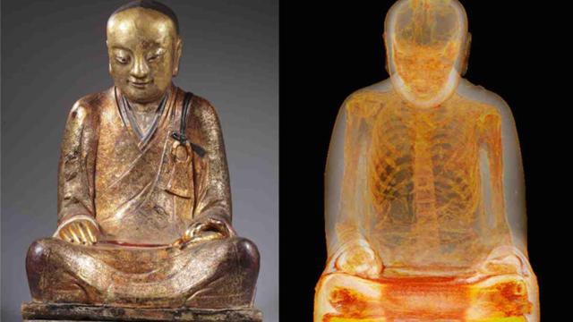 mummy monk ct scan