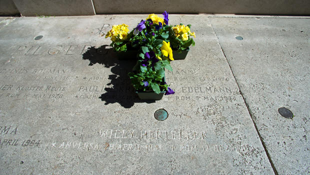 The grave of Willy Herteleer, a homeless man buried in the Teutonic Cemetery at the Vatican, is seen Feb. 27, 2015.