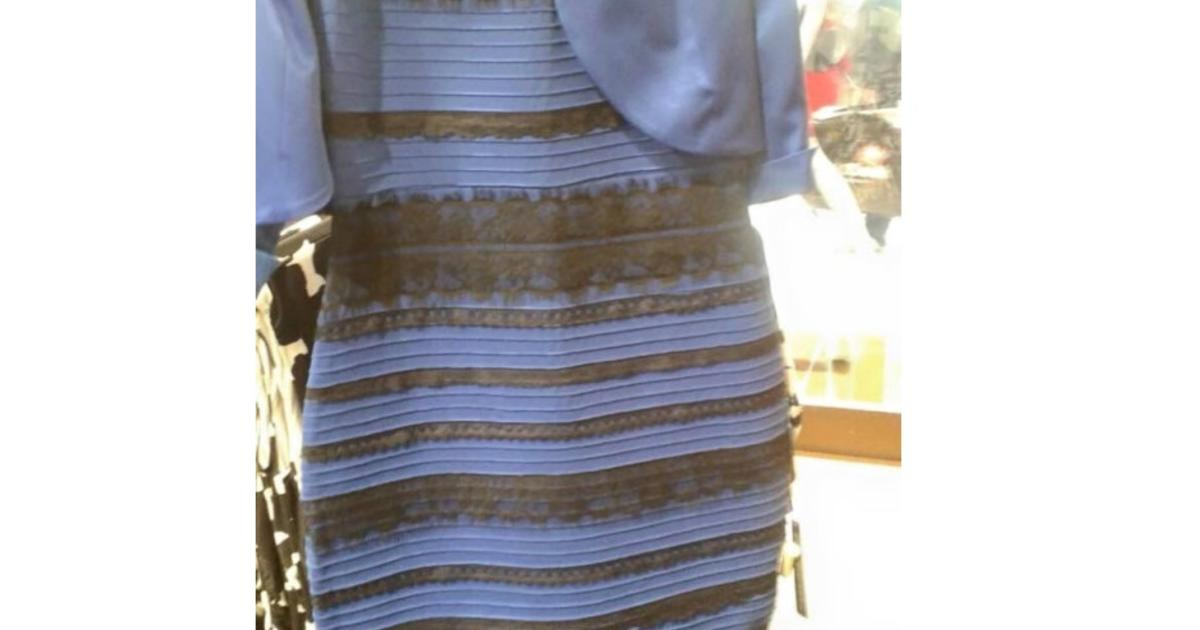 Is it blue and black or white and gold? Dress color debate goes ...