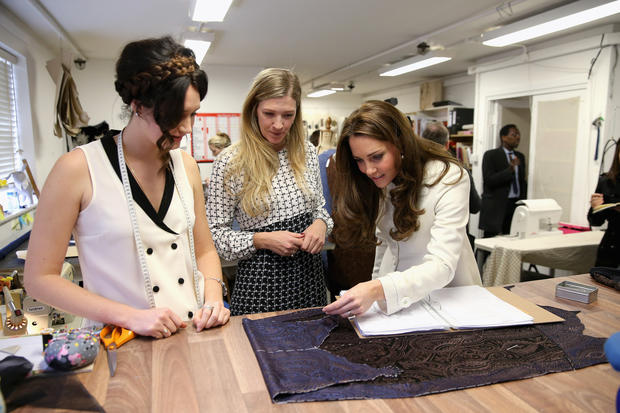 "Duchess Kate visits ""Downton Abbey"""