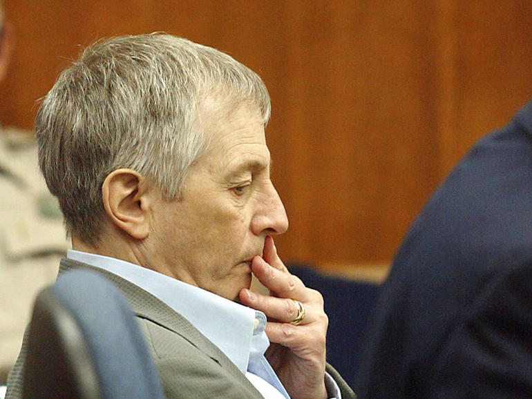 Defendant Robert Durst sits in court Nov. 10, 2003, at the Galveston County Courthouse in Galveston, Texas.