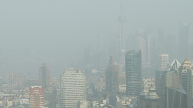 smoggy city