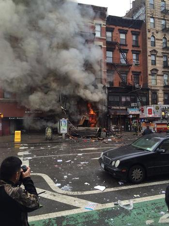 New York City building explodes