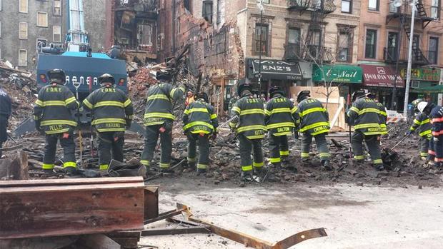 New York City building explodes