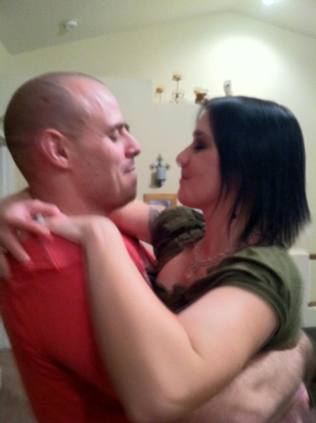 Tom and Ashley Fallis at their New Year's Eve party