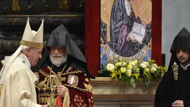 pope francis Aram I
