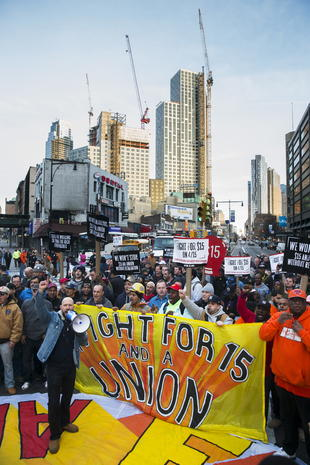 Nationwide protests for $15-an-hour