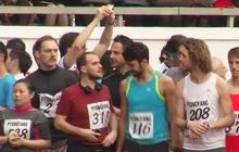 Americans take part in North Korea marathon