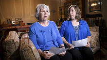 Elaine Weinstein, left, wife of American aid worker Warren Weinstein, is joined by their daughter, Jennifer Coakley, during an interview with The Associated Press at the family home in Rockville, Md., Aug. 8, 2014.