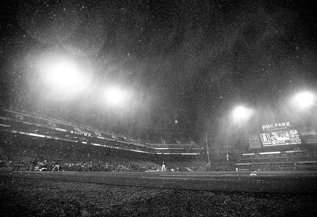 A snowy start to baseball season