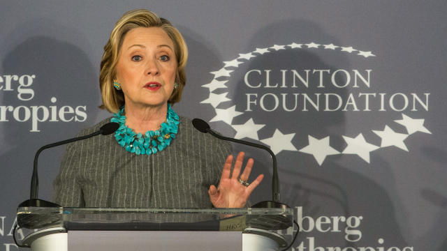 Former U.S. Secretary of State and first lady Hillary Clinton speaks at a press conference announcing a new initiative between the Clinton Foundation, United Nations Foundation and Bloomberg Philanthropies on Dec. 15, 2014, in New York City.