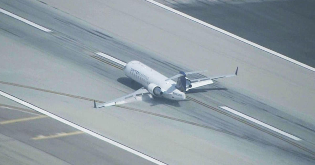 Plane Makes Emergency Landing On Belly At LAX