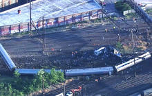 Around the bend of the Philadelphia Amtrak derailment