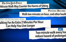 How two minutes of walking could save your life